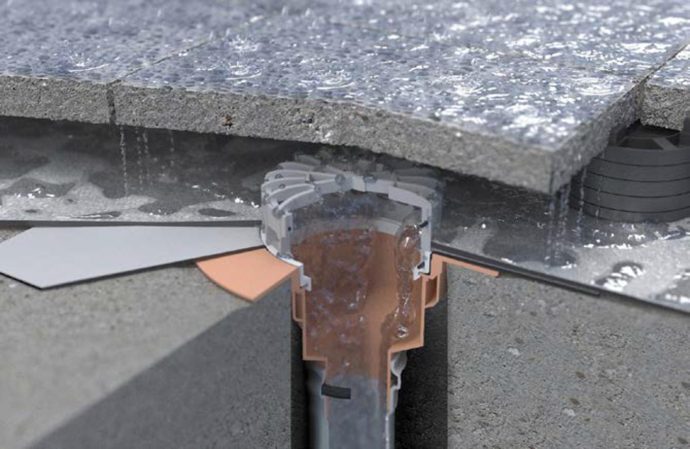 Receptori pentru terase si balcoane circulabile