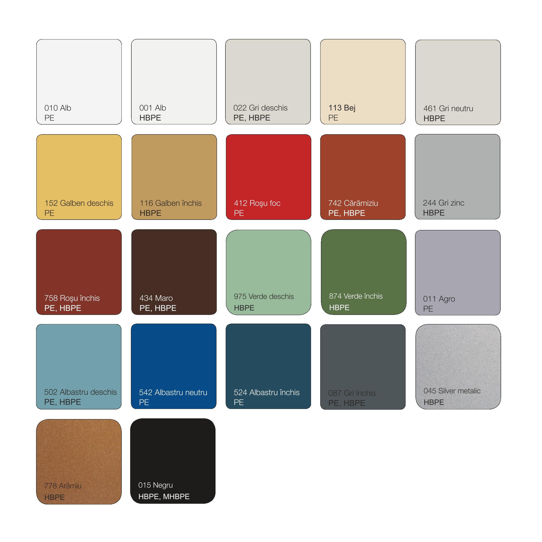 Paleta cromatica tabla cutata