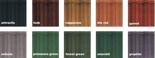 paleta culori lindab tigla metalica Roca Rustica_Serena
