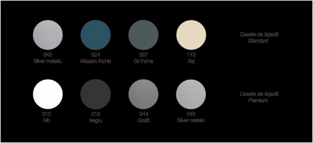 paleta de culori casete fatada lindab