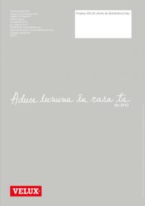 Broșură ferestre mansardă Velux