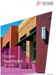 Broșură Siniat AquaBoard